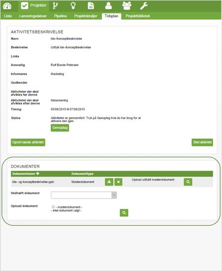 Dokumentstyring med tilknytning af dokumenter - effectlauncher